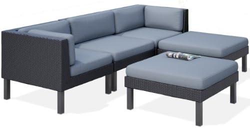 Amazon.com : CorLiving PPO-804-Z Oakland 5-Piece Sofa with ...