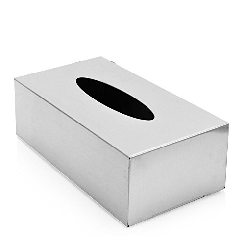 - Rectangular Stainless Steel Tissue Box Towel Tube Tissue Storage Box