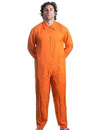ANN Arbor Playera Co. Prisoner Jumpsuit Naranja Prisión Inmate Halloween Disfraz Unisex Jail Penal.