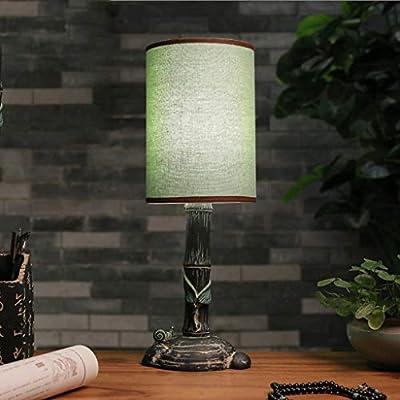 XGGYO Lámpara de mesa antigua, lámparas de escritorio de viento de ...