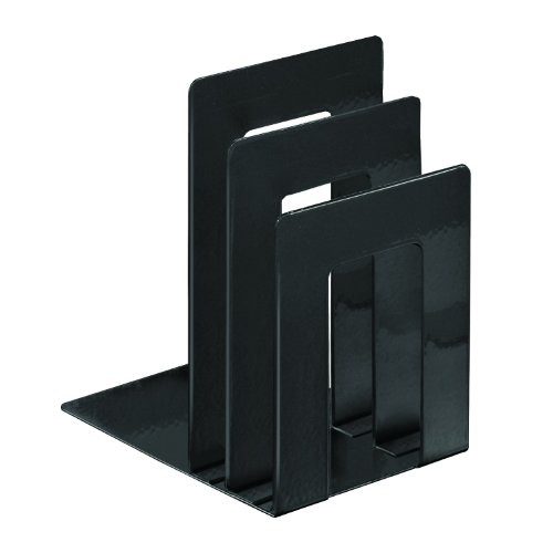 STEELMASTER Deluxe Bookend Sorter, 8.06 x 7 x 5 Inches, Black (241873S04)