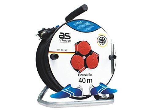 as - Schwabe Deutschland Fan Kabeltrommel zur EM 2016 mit 33 m Gummi-Kabel, 1 Stück, 33 m, weiß, 11201