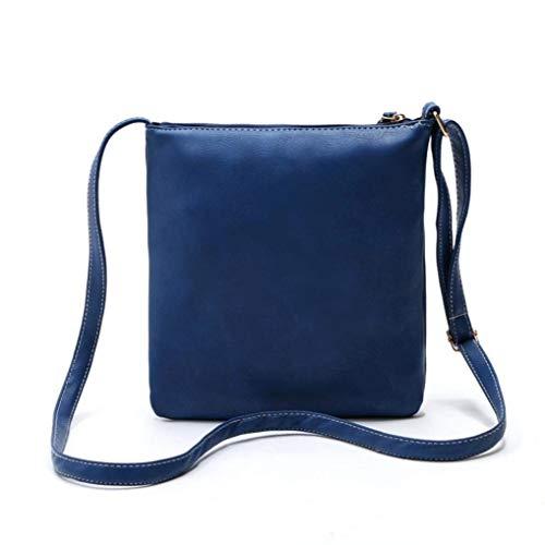 in tracolla tracolla Blu da Borsa Blu a a Dimensione pelle donna a a a Borsa tracolla tracolla tracolla Moontang Colore femminile qE6R81nF