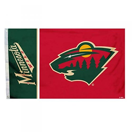 NHL Minnesota Wild Flag with Grommetts (3 x 5-Feet)