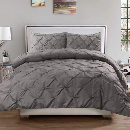 Better Homes and Gardens Pintuck 3-Piece Bedding Comforter Mini Set, Grey - FULL/QUEEN from Better Homes & Gardens