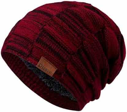82a9f46bda5 Beanie Hat Men Women Winter Warm Ski Skull Cap Chunky Slouchy Cable Knit  Beanie