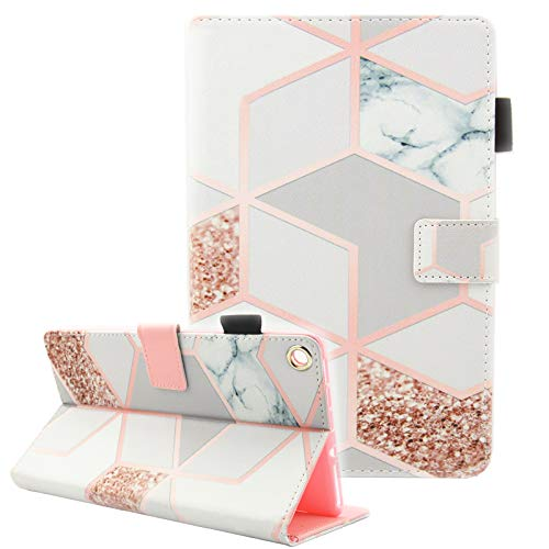 Fvimi All-New HD 8 Case, Slim Fit Folio Stand Leather Cute Design Smart Cover with Auto Wake/Sleep Function for HD 8 8th Generation 2018 / 7th Generation 2017 / 6th Generation 2016, Gird Marble ()