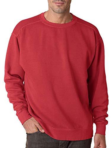 Adult Crew-Neck Blended Sweatshirt (Crimson PgmDye) (Large) ()