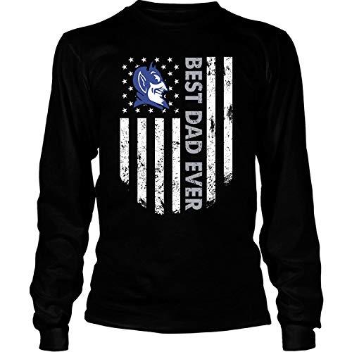 Best Dad Ever T Shirt, Duke T Shirt - Long Sleeve Tees (XL, Black)