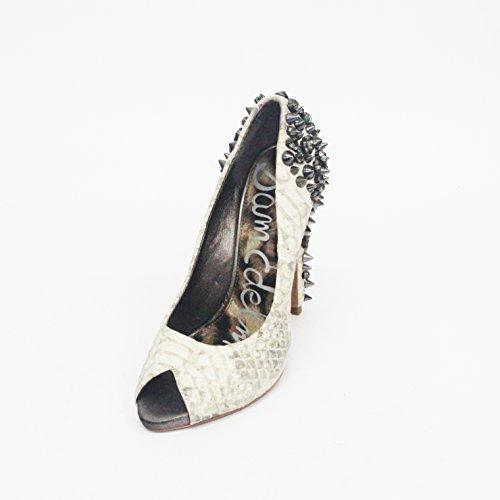 Sam Edelman para dedo del pie abierto diseño de tacones, diseño de las piedras de y picos detalle, estándar del Reino Unido 3,5, de £195 negro - Tequila-snake