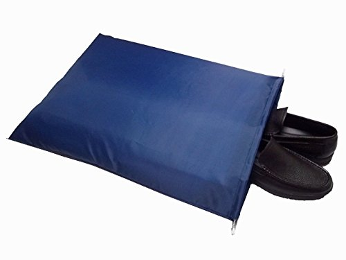 FashionBoutique high quality waterproof Nylon shoe bags- Set of 3/Two Drawstrings/Extra Large size 22.5(L)x17.7(W)inch/Color Dark Blue/Large enough for organizing SHOES and BOOTS/Large enough as Laundry Travel Bag by FashionBoutique