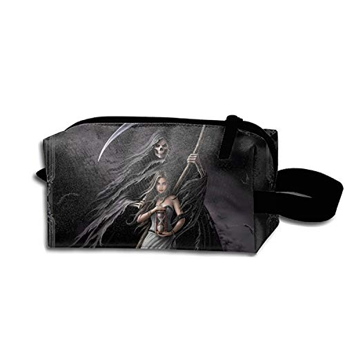 Make-Up Cosmetic Tote Bag Dark Grim Reaper Durable Carry Case