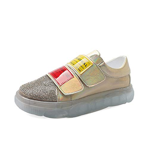 koriam kuang Spring Women's Canvas Shoes Women's Shoes Gold 9 M US