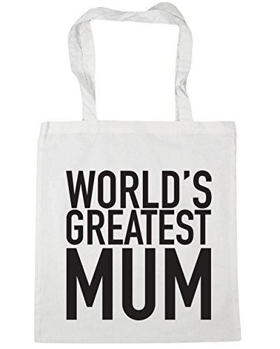 World's Bag 10 litres Shopping HippoWarehouse Gym mum x38cm Tote White 42cm Beach greatest dxqOCRw0