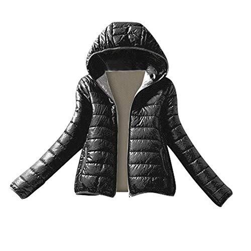 (YKARITIANNA Women Quilted Slim Fit Jumpsuits, Rompers & Overalls Winter Warm Coat Slim Hooded Zipper Jacket Overcoat Blouse)