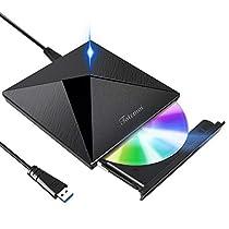 【最新版】 DVDドライブ 外付け USB 3.0 DVD プレイヤー ポー...