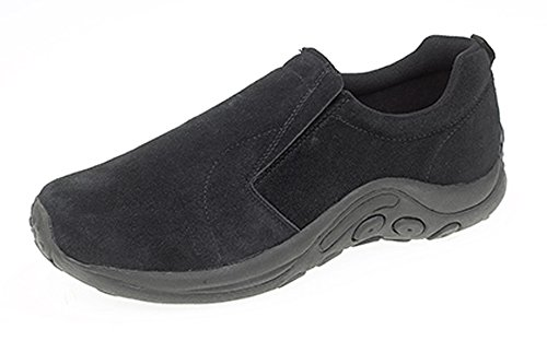 MENS REAL SUEDE SLIP ON CASUAL SHOES SIZE 5 - 14 BLACK GLay5cRp
