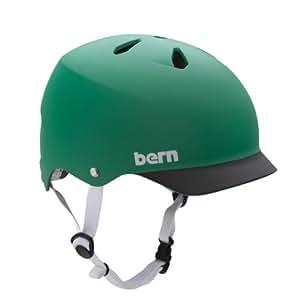 Bern Watts Summer Brim EPS Helmet, Matte Green/Black, Small