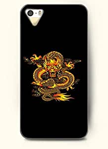OOFIT Phone Case design with Yellow Dragon for Apple iPhone 5 5s 5g
