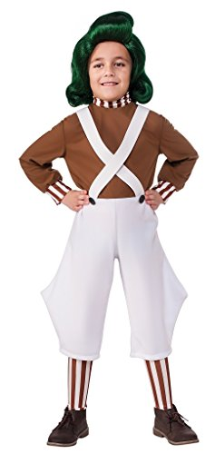 Faerynicethings Willy Wonka & The Chocolate Factory Child Size Oompa Loompa Costume with Wig - Small 4-6 -