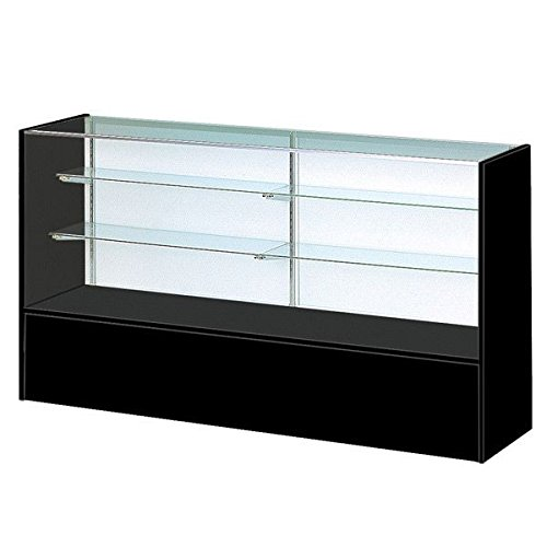 """70"""" Black Display Case - Full Vision Showcase Ready to Assemble by Only Garment Racks"""