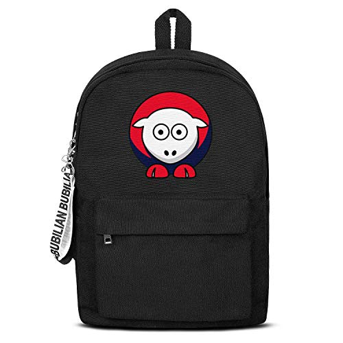 TRYHTRHGH MVP Sheep Boston Red Champion 2018 Black Canvas School Bag Backpack Girls Unisex Customized College Laptop Bag for Teens Girls Students Casual Lightweight Travel Daypack Outdoor Boston Red Sox Girls Mini