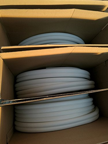 1//4-5//8 Insulated Copper Coil Line Set Refrigerant 25 Long Seamless Pipe Tube for HVAC 1//2 Black Insulation Taped Together