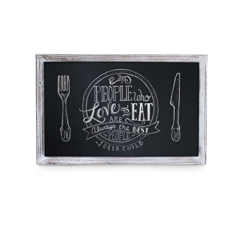 - HBCY Creations Rustic Whitewashed Magnetic Wall Chalkboard, Small Size 11