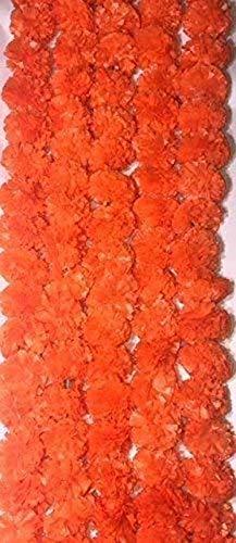 人工オレンジマリゴールドフラワーガーランド 結婚式 Diwali – 20個パック B07JG2J963