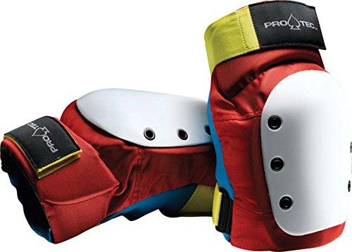 Retro Red//Blue//Yellow Pro-Tec Street Knee Pads X-Large