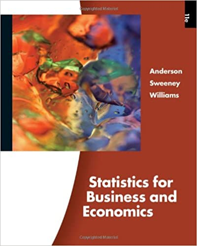 Statistics For Business And Economics Book Only