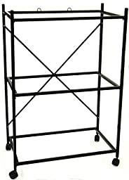 YML 3-Shelves Stand for Pet Cages, Black