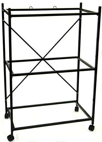 YML 3-Shelves Stand for Pet Cages, Black by YML