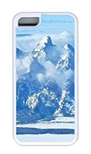 Customized Case landscapes nature snow mountain 25 TPU White for Apple iPhone 5C