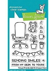 "Lawn Fawn Virtual Friends Add-on 3""x4"" Clear Stamp Set (LF2558)"