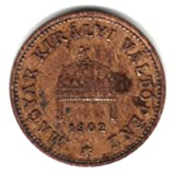 1902 Hungary 1 Filler Coin KM#480
