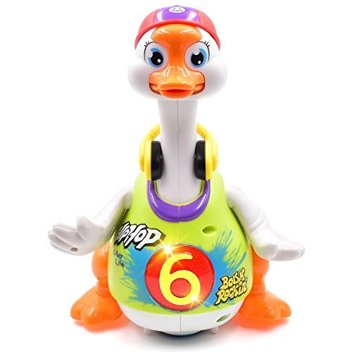Toyk Kids toys Music Goose toys With Powerful LED Light Dancing Music Educational Toys For Boys Girl Toddler