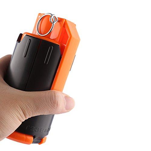 - HMANE CS Grenade, Foam Crystal Water Bullet Ball Grenade for Nerf Game