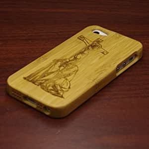 Euroge Tech 100% Natural Bamboo Case for iPhone 5 Jesus and Cross