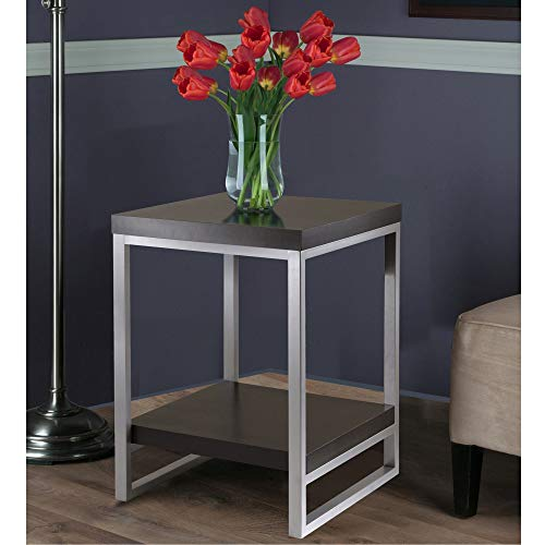 home, kitchen, furniture, living room furniture, tables,  end tables 10 on sale Winsome Wood Jared End Table, Espresso Finish in USA