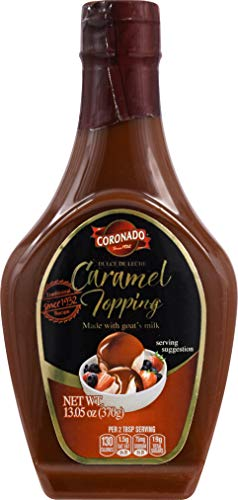 CORONADO Dulce de Leche Caramel Topping - Sweet Cajeta Sauce/Spread with Real Goat Milk - Squeezable Bottle, 23.3oz ()
