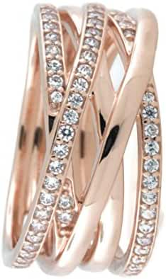 Entwined Ring, PANDORA Rose & Clear CZ 180919CZ (7.5)