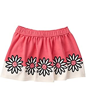 Baby Girls' Pink Daisy Ponte Skirt