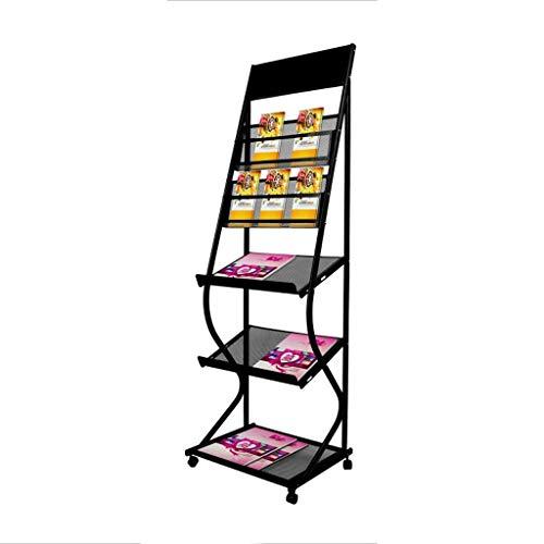 (Vertical Magazine Rack, Book Display Stand, 5th Floor Multipurpose Storage Rack, Household/Commercial Shelf)