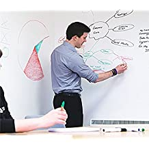 Whiteboard Self-Adhesive Wall Sticker Wall Paper Chalkboard Contact Paper for School, Office, Home, 45X200CM