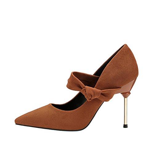 Unidos Estados Tacón Aluk Y Los Mujer Europa Zapatos De Alto Con 0Tnx0CBq
