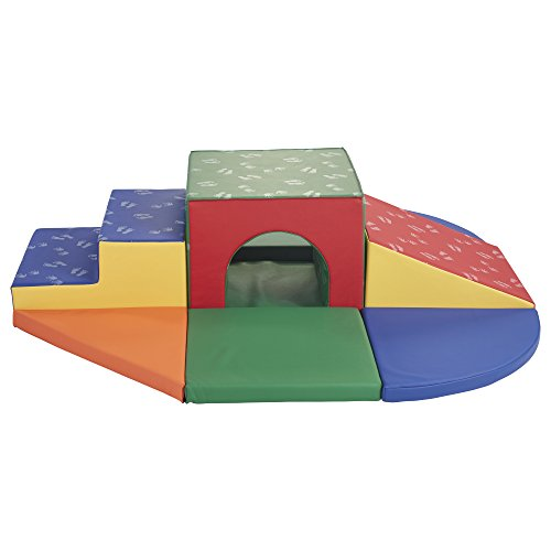 (ECR4Kids SoftZone Lincoln Tunnel Foam Play Climber, Primary)