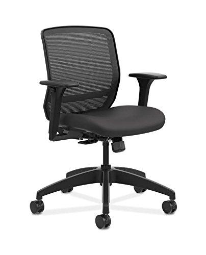 HON QTMMY1ACU10 Quotient Series Mesh Mid-Back Task Chair, Black