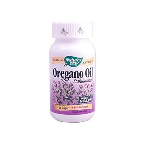 Nature's Way Oregano Oil 50 mg Standardized 60 Veg Capsules Pack of 3