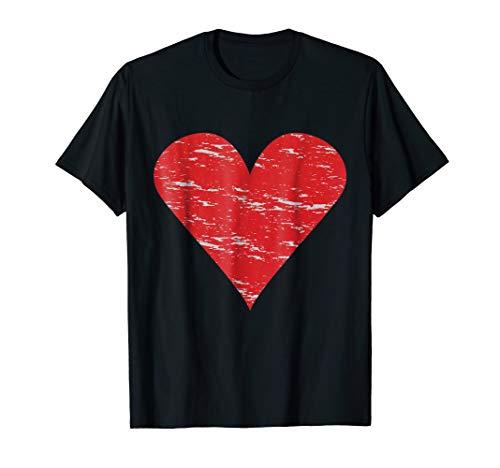 Hearts Symbol T-Shirt Poker Luck Player Winner Costume Love -